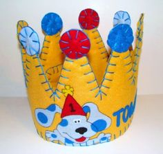 Blues Clues Inspired Felt Birthday Party Crown