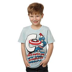 ThinkGeek :: C is for Captain America Kids' Tee