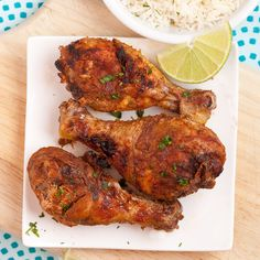 This Tandoori Chicken recipe is as close as you can get to your favorite Indian restaurant's version at home! So succulent, savory, tender, delish! Indian Food Recipes, New Recipes, Cooking Recipes, Ethnic Recipes, Recipies, Dinner Recipes, Oven Chicken, Tandoori Chicken, Chicken Legs