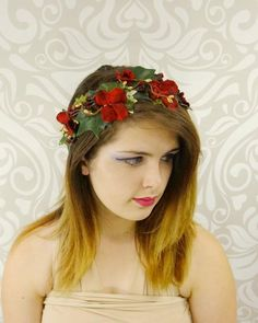 Bohemian Flower Crown Wedding Garland Forehead Head Hair Band Beach Wreath CW