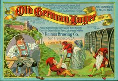 Old German Lager Brew Beer Label from Rainier