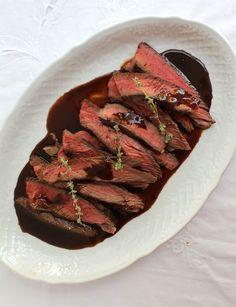 Rump Steak with Wine-Balsamic Glaze