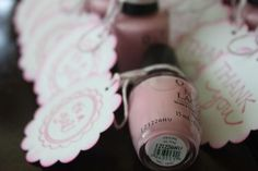 It's a girl favors... love it! Could do blue polish for a boy!