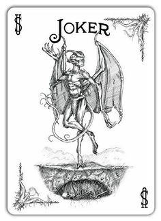 Joker from the Call of Cthulhu Bicycle deck. Joker Playing Card, Joker Card, Playing Cards, Joker Clown, Jokers Wild, Tarot Meanings, Call Of Cthulhu, Card Tattoo, Cartomancy