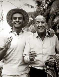 Sean Connery and Sir Noel Coward