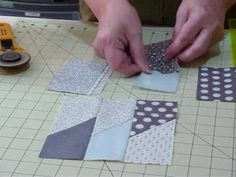 """Make a Picket Fence block using 5"""" squares--when 4 blocks are pieced together the end result creates a Friendship star.  Quite nice for a scrappy quilt."""
