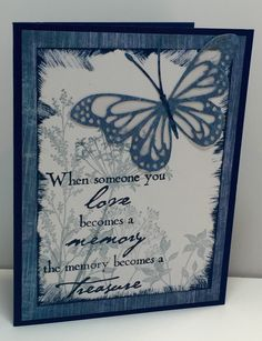 Card created by Christine Fichtner.  Featuring Memory Box's Lunette Butterfly die and Verses stamp Love Becomes A Memory.