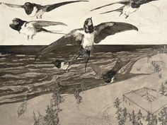 Klemens Brosch *Austria On the Beach, 1912 – capture Nicholas Roerich, Caspar David Friedrich, Rene Magritte, Andrew Wyeth, Marc Chagall, Grafik Design, Vincent Van Gogh, Painting & Drawing, Austria