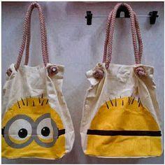 Bag O' minions Minion Bag, Minions Love, My Minion, Minion Stuff, Minion Birthday, Minion Party, Craft Projects For Kids, Projects To Try, Craft Ideas