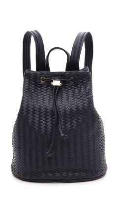 What a steal: Looks like a woven leather high-end designer backpack, but it's $130 at Shopbop.