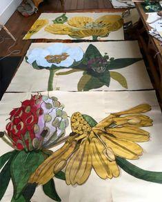 The Amazing Work Of Sarah Graham. Hello Newyorkers Her Show Opens At The Lyndsey_Ingram Gallery In November. Art And Illustration, Illustrations, Botanical Drawings, Botanical Prints, Art Floral, Sarah Graham Artist, Art Studios, Painting Inspiration, Flower Art