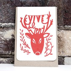 Image of TENT CARD / VIVE LE VENT