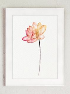 Corail aquarelle coloré de fleurs de Lotus par ColorWatercolor                                                                                                                                                     Plus