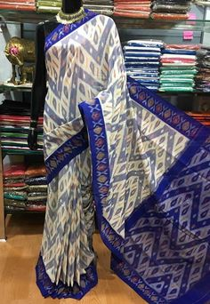 Handloom ikkat cotton sarees without blouse PRICE:2499 Order what'sapp 919573737490