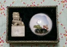 """NIB Chinese Embossing, Seal Set """"Double Happiness"""" Stone Chop and Ink Pot Pier 1"""