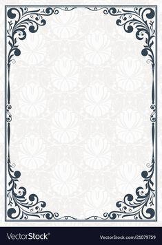 Vintage frame vector image on VectorStock Ppt Design, Icon Design, Page Borders Design, Design Elements, Vector Design, Design Room, Design Studio, Restaurant Design, Vintage Typography