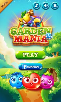 Garden Mania 2 by Ezjoy - Splash Screen  - Match 3 Game - iOS Game - Android Game - UI - Game Interface - Game HUD - Game Art