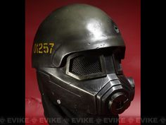 "This is it!     Evike.com Airsoft Guns - Tac. Gear/Apparel | Evike.com Airsoft Guns - Head - Masks (Full) | Evike.com Airsoft Guns - Pre-Order Estimated Arrival: 06/2012 --- Limited Edition Rlux Custom Airsoft Wire Mesh ""Fallout"" Mask Inspired by Fallout - Green/Gold 