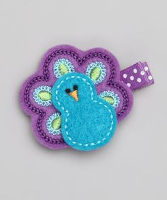 Look what I found on #zulily! Blue & Purple Peacock Clip by Nantucket Girl #zulilyfinds
