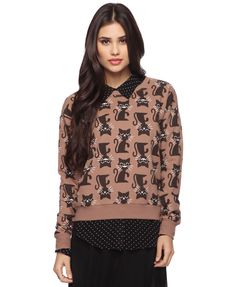 forever 21 also has a zillion different adorbs animal prints, from classic zebra and leopard to these grinning kitties.