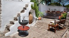 Vulcano the grill that fits every place! Tree Branches, Grilling, Art Pieces, Patio, Traditional, Places, Outdoor Decor, How To Make, Home Decor