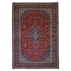 FineRugCollection Handmade Kashan Red Rug