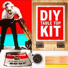 Andy Warhol & the DIYprintShopTable Top Screen Printing Kit Made to Make it Awesome at DIYprintShop.com #diy #diyprintshop #made2makeit #printisrad #diyshop #easydiy #diyproject #doitright #makersmovement #makersgonnamake #doitup #doittoit #doitmyself #doittoday #doitfortheinsta #doitlikeme #doityourself #screenprinters #madeeasy by diyprintshop