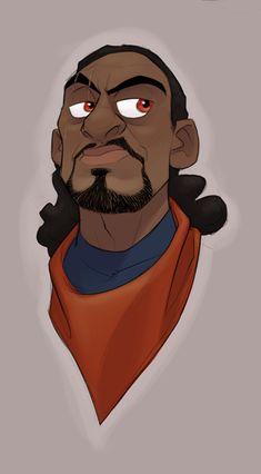 portrait male human afro cartoon by Randy Bishop