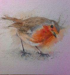 Sylvia Farrow Original Watercolour -Robin - Arthouse Gallery