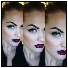 So obsessed with Purple lips.