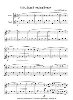 flute duet tchaikovsky waltz sheet music - 8notes.com