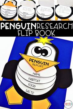 Penguin Research activity First Week Activities, Social Studies Activities, Winter Activities, Kindergarten Activities, Kindergarten Writing, Literacy, Preschool Science, Science For Kids, Science Activities