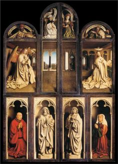 Jan van Eyck, Complete Left Panel of the Ghent Altarpiece, 1432