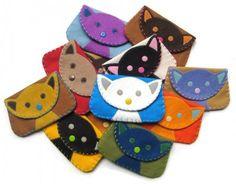 Felt Cat Snap Wallet Purse by Bubbledog on Etsy