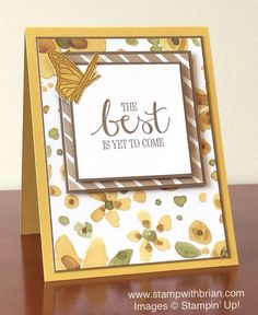 Best Thoughts, English Garden Designer Series Paper, Stampin' Up!, Brian King…