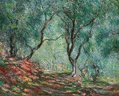Bois d'oliviers au jardin Moreno, par Claude Monet