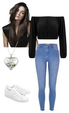 """""""Daniella Party"""" by fashioncutie13 ❤ liked on Polyvore featuring River Island and adidas Originals"""