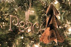DIY Mini Christmas Tree Paper Ornaments - The Sweetest Occasion | The Sweetest Occasion