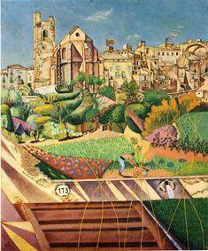 Montroig, la iglesia y el pueblo -  Joan Miro 1918