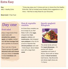 7 day menu