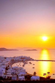 Sundown.. Mykonos Island (Cyclades), Greece
