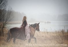 horse and rider in the mist.- if I get lucky I'll get a client out that early on a day like that!