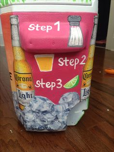 cut out ice cubes and modge podge them on the cooler Frat cooler by Natalie Kieta Sorority Canvas, Sorority Paddles, Sorority Crafts, Sorority And Fraternity, Sorority Recruitment, Sorority Life, Fraternity Coolers, Frat Coolers, Formal Cooler Ideas