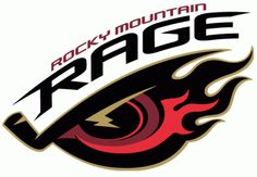 Rocky Mountain Rage Primary Logo on Chris Creamer's Sports Logos Page - SportsLogos. A virtual museum of sports logos, uniforms and historical items. Hockey Logos, Hockey Teams, Sports Logos, Team Mascots, Great Logos, Best Logo Design, Game Logo, Detroit Red Wings, Cool Logo