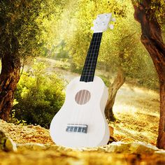 21 Inch Unassembled Wooden Ukulele With Musical Accessories for Guitar DIY Sale - Banggood.com