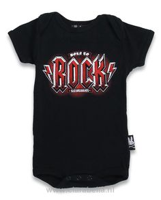 #SB #born #to #rock #black-red #Six #Bunnies #Baby #body #tip #top  15% discount on EVERYTHING in our store. Sign up here to receive your personal discount code:http://eepurl.com/boSy7H