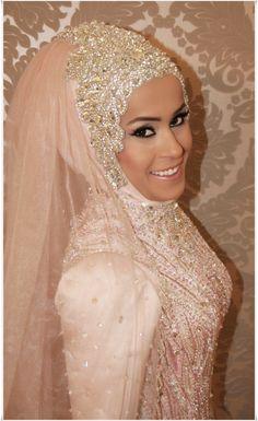 Modest and Islamic bridal hijab with veil - HijabiWorld dresses muslim hijab bride style Hijab Wedding, Muslimah Wedding Dress, Bridal Hijab, Muslim Wedding Dresses, Hijab Bride, Muslim Brides, Wedding Dress Trends, Wedding Attire, Muslim Women
