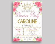 Princess Birthday Invitation Princess Birthday Party Invitation Princess Birthday Party Princess Invitation Girl royal celebration 8HDMG #birthdayInvitations #birthdayParty #birthdayPartyInvitations