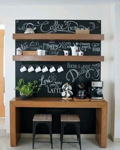 Before And After: Amazing Chalkboard Coffee Bar.