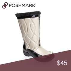 Sporto Waterproof Faux Fur Boots Heading out for a wintery trek? Brave the weather while keeping your tootsies warm thanks to Sporto's Thermolite insulation. The quilted design of this fashionable boot helps you beat the elements in style. New without original box Faux fur collar Front zipper with interior protective fabric Quilted shaft with topstitch detail Shoes Winter & Rain Boots